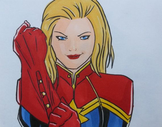 Help me celebrate my birthday! Use the coupon 'HIPHIPHOORAY' in the checkout to get 20% off all items!  https://www.etsy.com/au/listing/247147339/captain-marvel-comic-print-or-original
