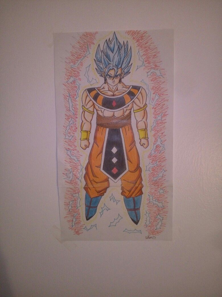 Ultimate Goku   fan'art by anthony/ParanoX