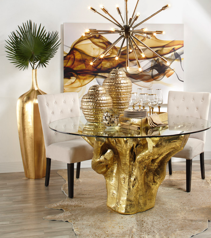 Sequoia Dining Golden Moment Round Dining Table
