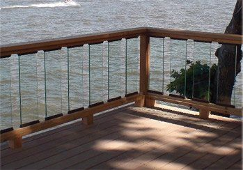Glass Slat Panels Make A Great Look For Your Deck Glass Railing Deck Glass Balusters Modern Fence