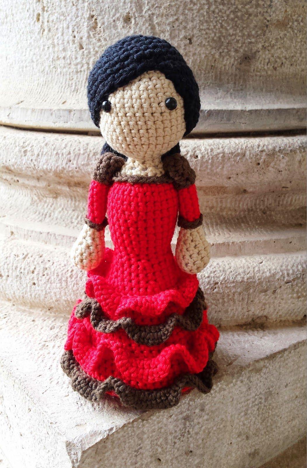 Tejiendo con Max: Flamenca con volantes a crochet. | pato ...