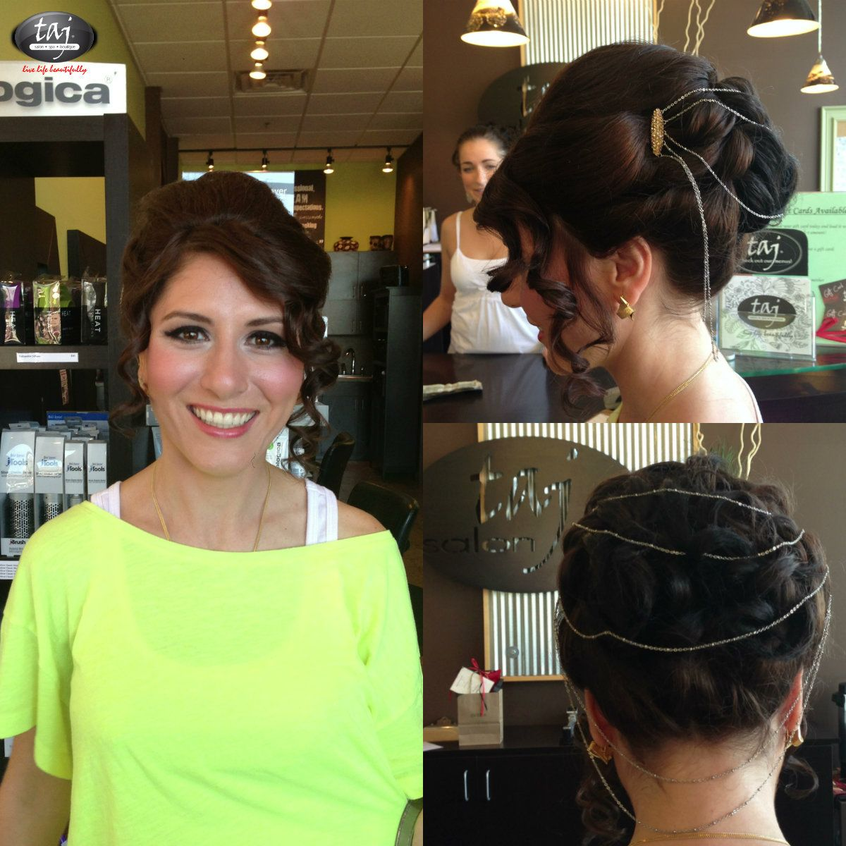 We Welcomed A Lovely Bridal Party This Morning Beautiful Hair Jewelry Too Hair Makeup Beautiful Hair Hair
