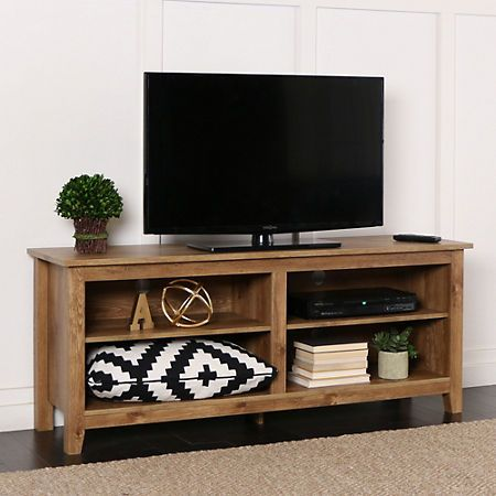 Barnwood Media Console 58 In Tv Stand Designs Tv Stand Decor