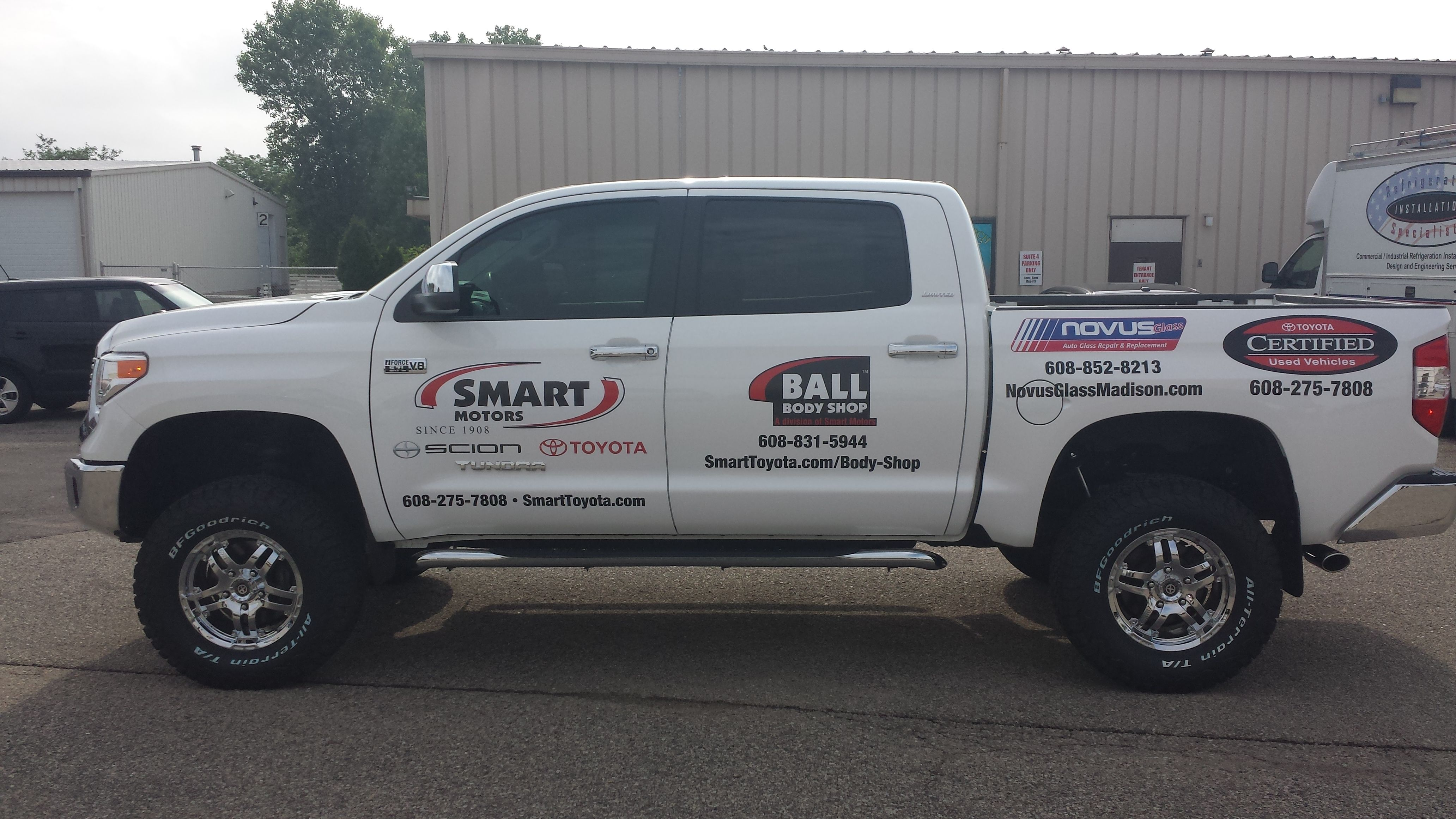Novus Glass Truck Graphics Done By Monarch Media Designs In