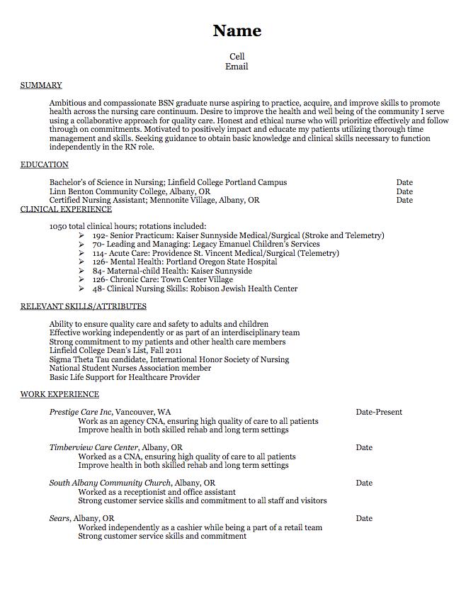 Pin by latifah on Example Resume CV | Nursing resume, Rn