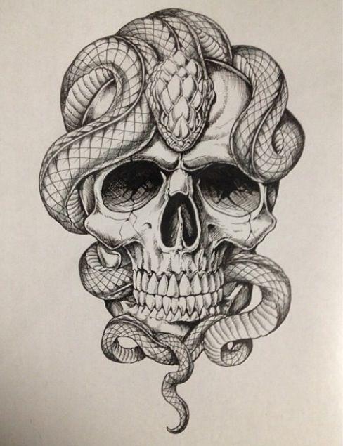 affliction skull and snake art pinterest tattoos