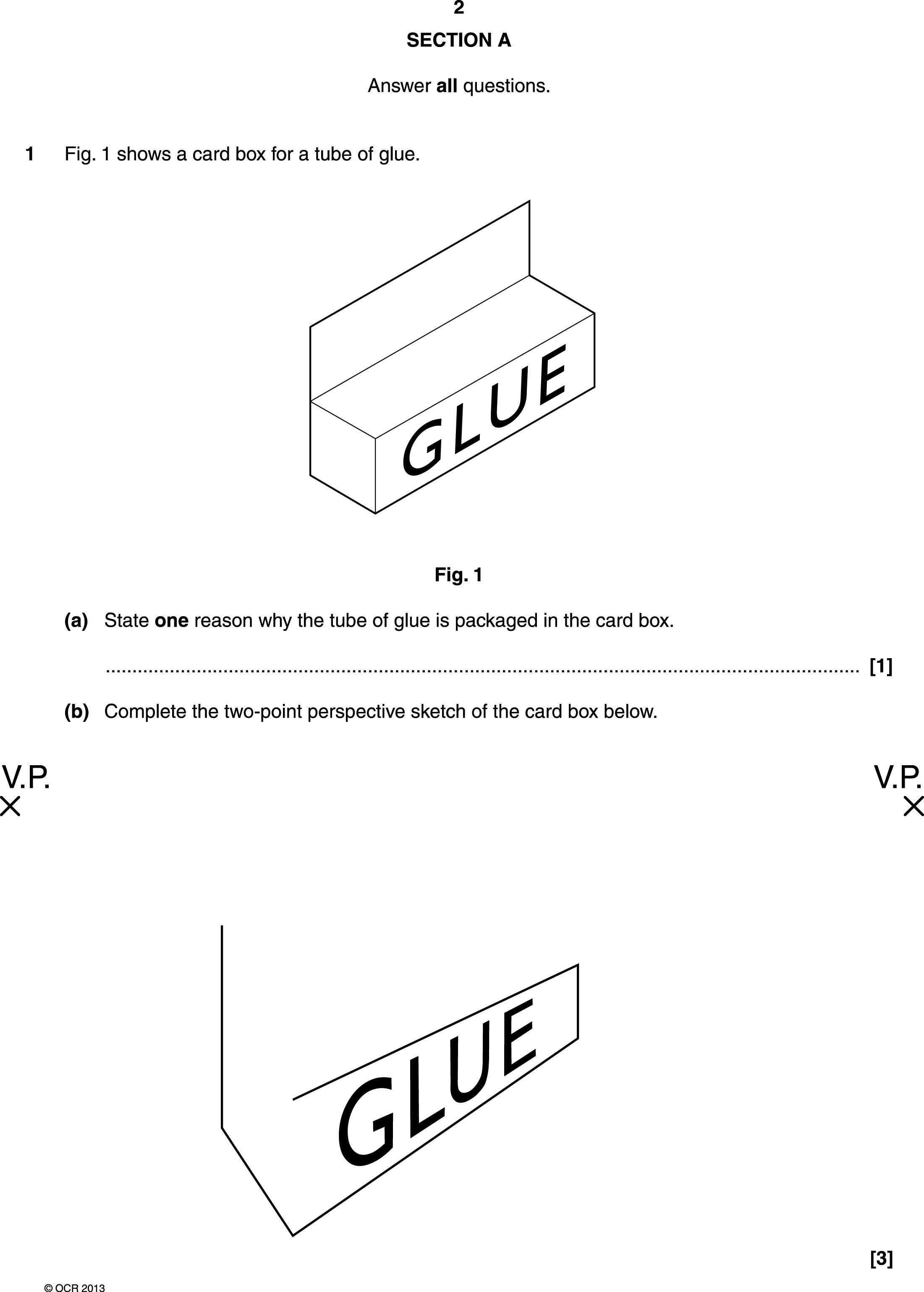 Two Point Perspective Exam Question