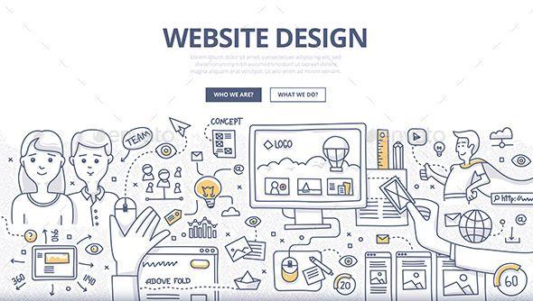 Web Design Doodle Concept In 2020 Doodle Art Designs Doodle Designs Web Design