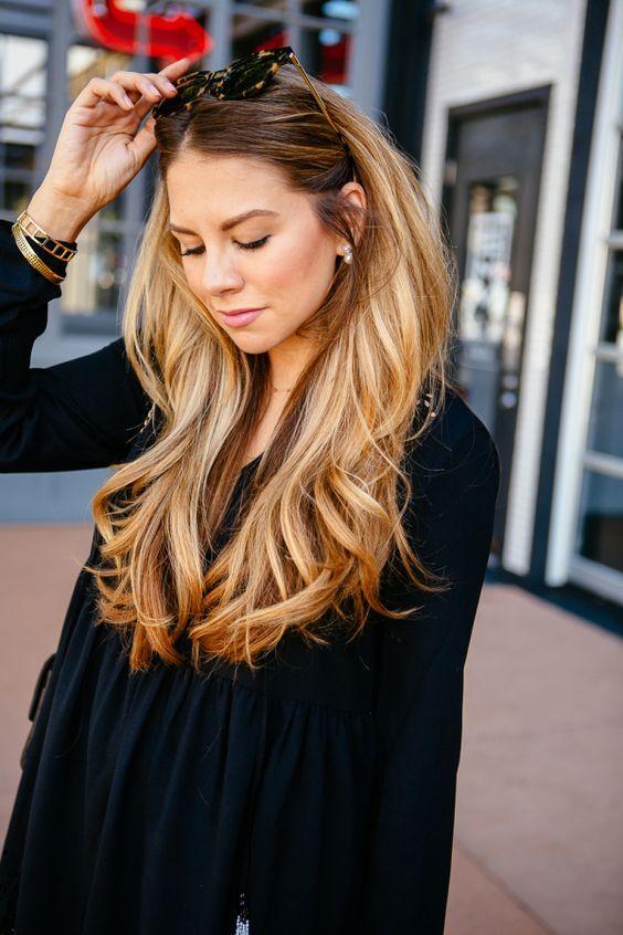 Honey Blonde Highlights On Brown Hair Sa Modelleri Pinterest