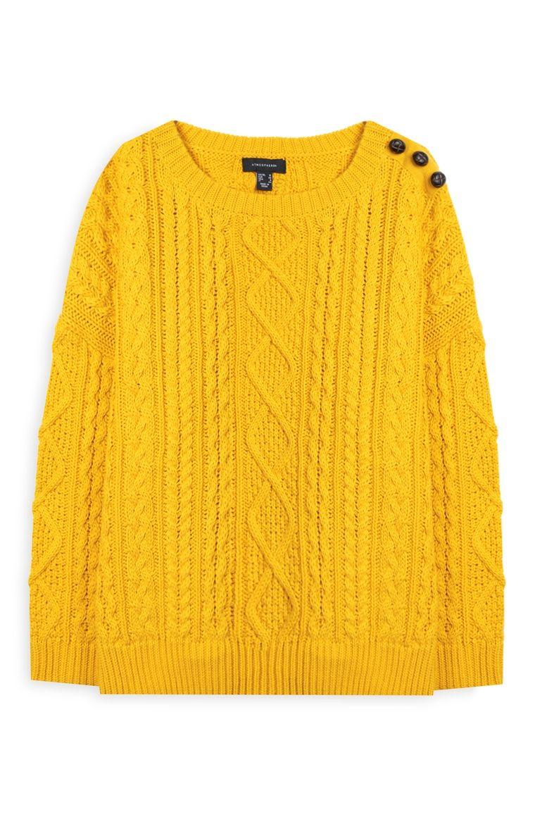 Primark - Jersey de punto de ochos amarillo  2073275c0a3