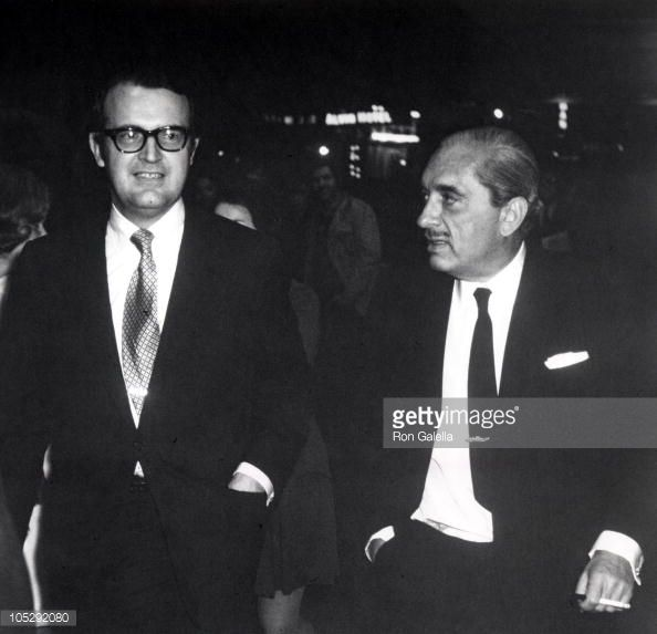 William Vanden Heuvel and Prince Radziwill during 'Company' Opening Night on Broadway at The