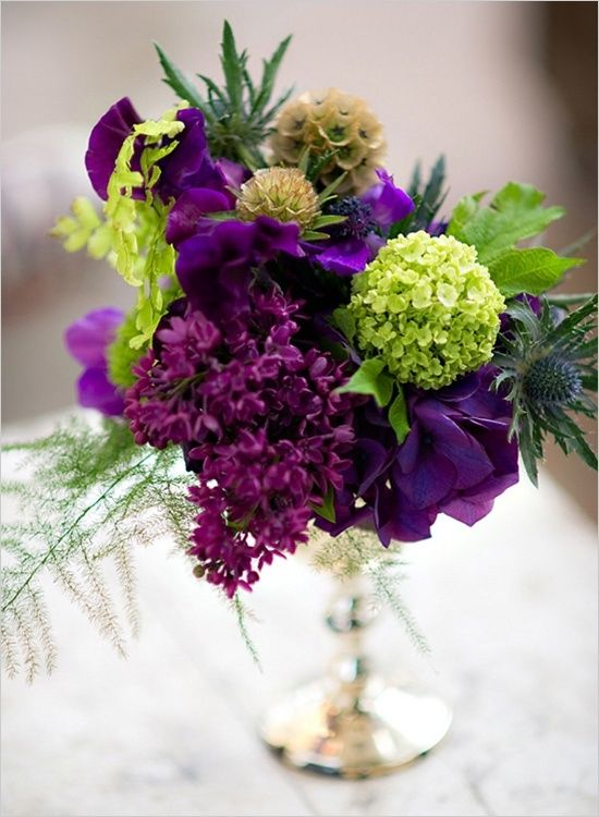 PURPLE AND GREEN WEDDING FLOWERS By Skys Mum