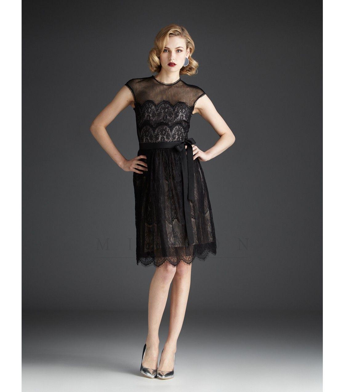 Mignon fall dresses black lace knee length dress dresses