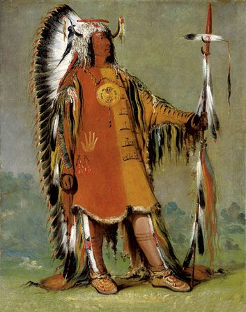 Watchful Fox Indian Chief 15x22 George Catlin Native American Indian Art