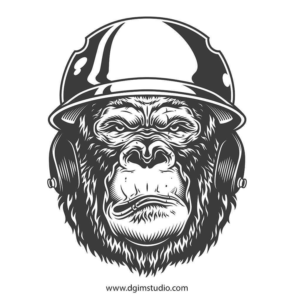 Gorilla Creator Sports Illustrations Design Illustration Design Custom Tshirt Design