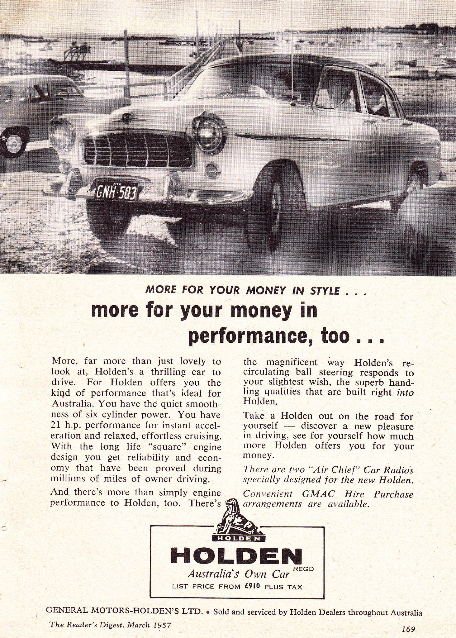 1957 FE Holden Special More For Your Money Aussie Original Magazine ...