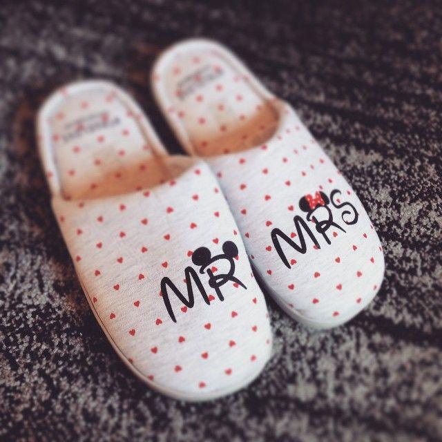 Mickey and minnie slippers by @beautyandbaklava #womensecret