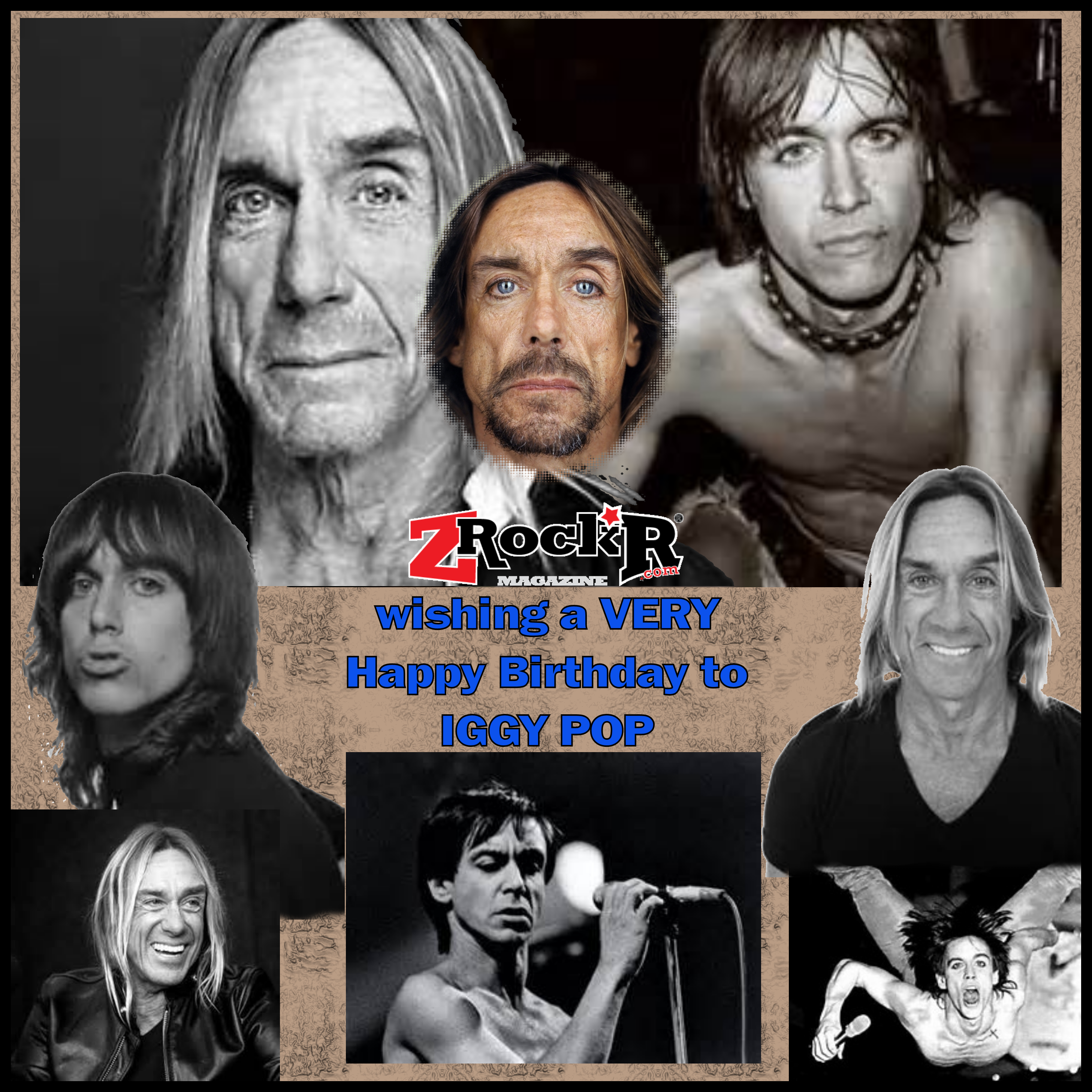 Iggy Pop Collage' by Photoartist LisaKay Allen/PassionFeast