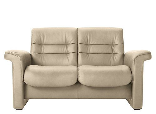 Stressless Sapphire Leather Reclining Low Back Loveseat Love