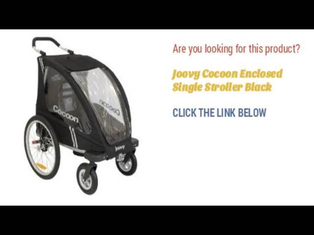 Joovy Cocoon Enclosed Single Stroller Black Single Stroller