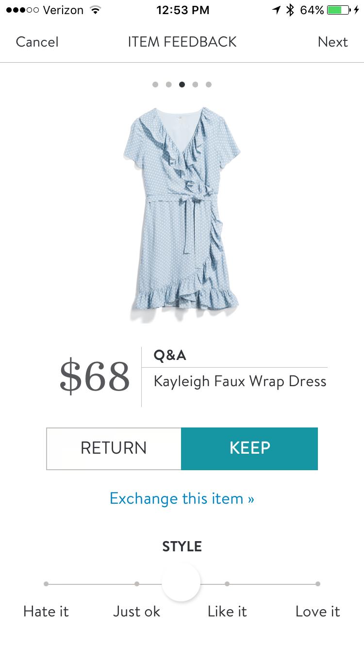 03b49bdd4d Q&A kayleigh faux wrap dress stitch fix   FB Stitch Fix Group Board ...