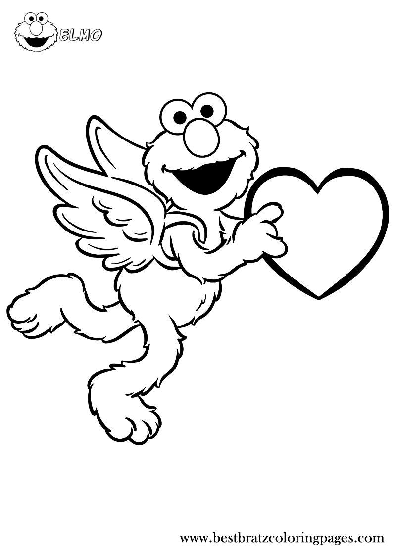 Free Printable Elmo Coloring Pages | Bratz Coloring Pages | Coloring ...