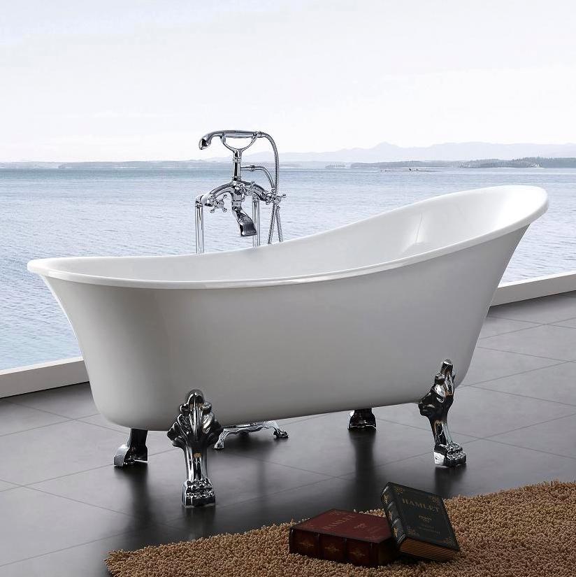 Bathlife Tassbadkar Fossing Vit Badkar Badrumsinredning Vit Farg
