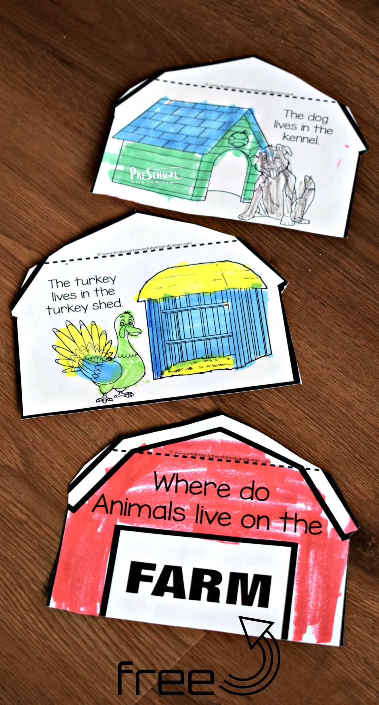 Farm Animals And Their Homes Flipbook With Images
