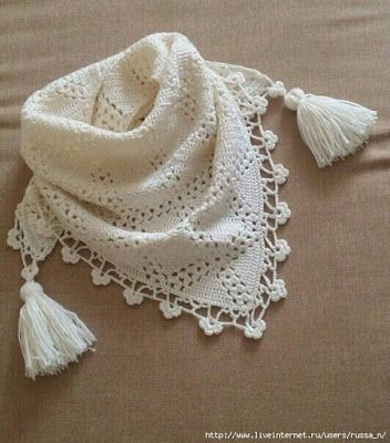 Delicadezas en crochet Gabriela: Pañuelos / Crochet | Chales ...