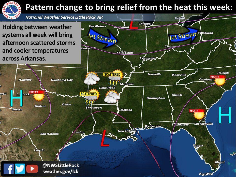 says For Central Arkansas Thru Next Saturday Heat