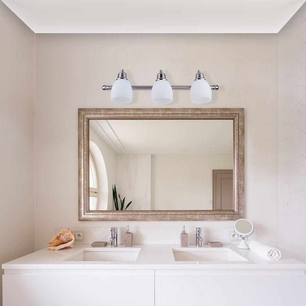 Photo of Veranda & Den Betty Satin Nickel All-in-One 5-piece bath set, gray