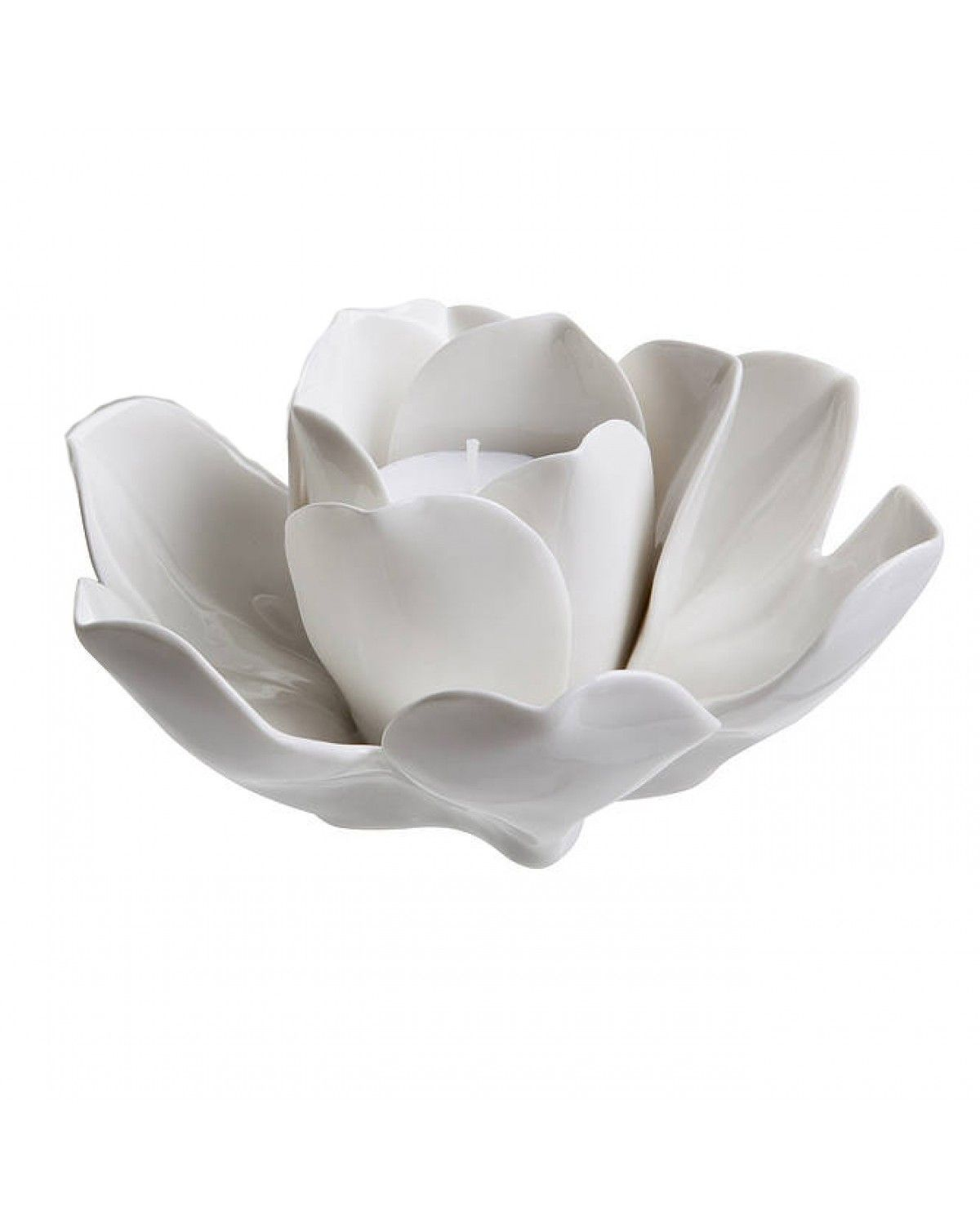 White Rose Tealight Holder