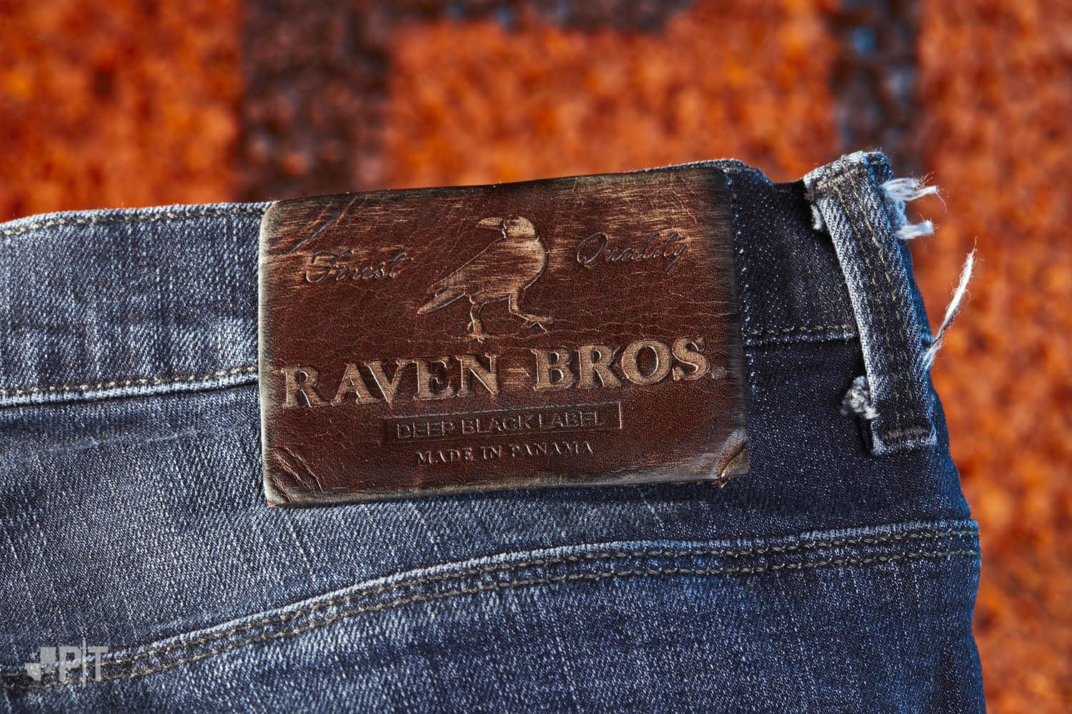 Leather label made in Italy by Panama Trimmings #denim #details #vintage #labeling