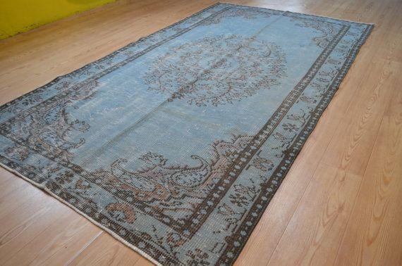 tapis overdyed turque tapis vintage bleu tapis turc frais - Tapis Turc