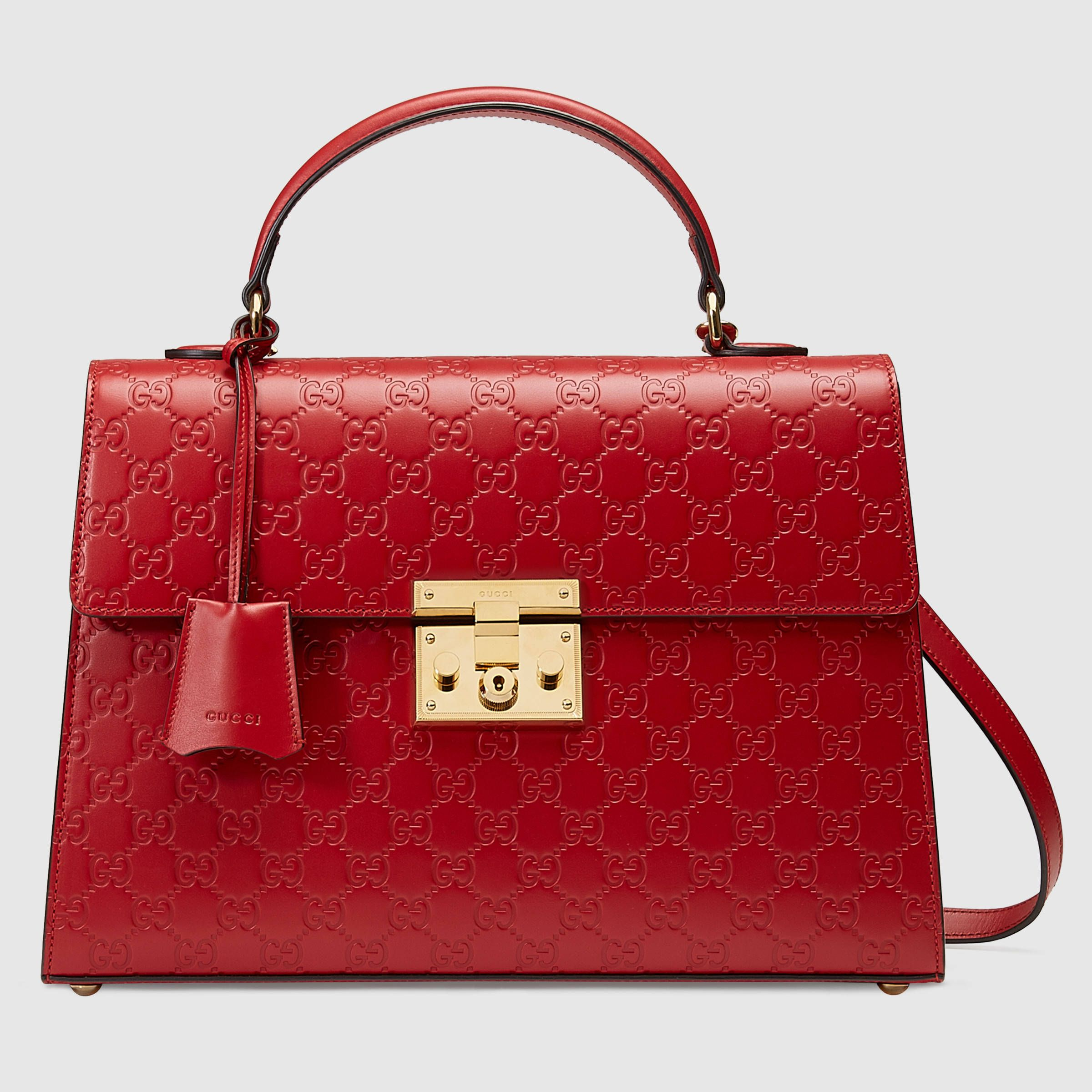 0ca42853b90 Padlock Gucci Signature top handle - Gucci Women s Top Handles   Boston  Bags 428208CWC1G6433