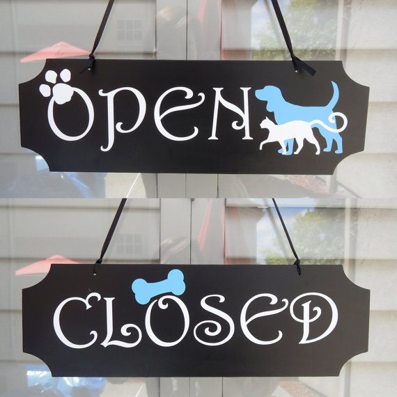 5h X 15 5w Double Sided Open Closed Sign For Pet Dog Grooming Shop Pet Grooming Salon Dog Grooming Salons