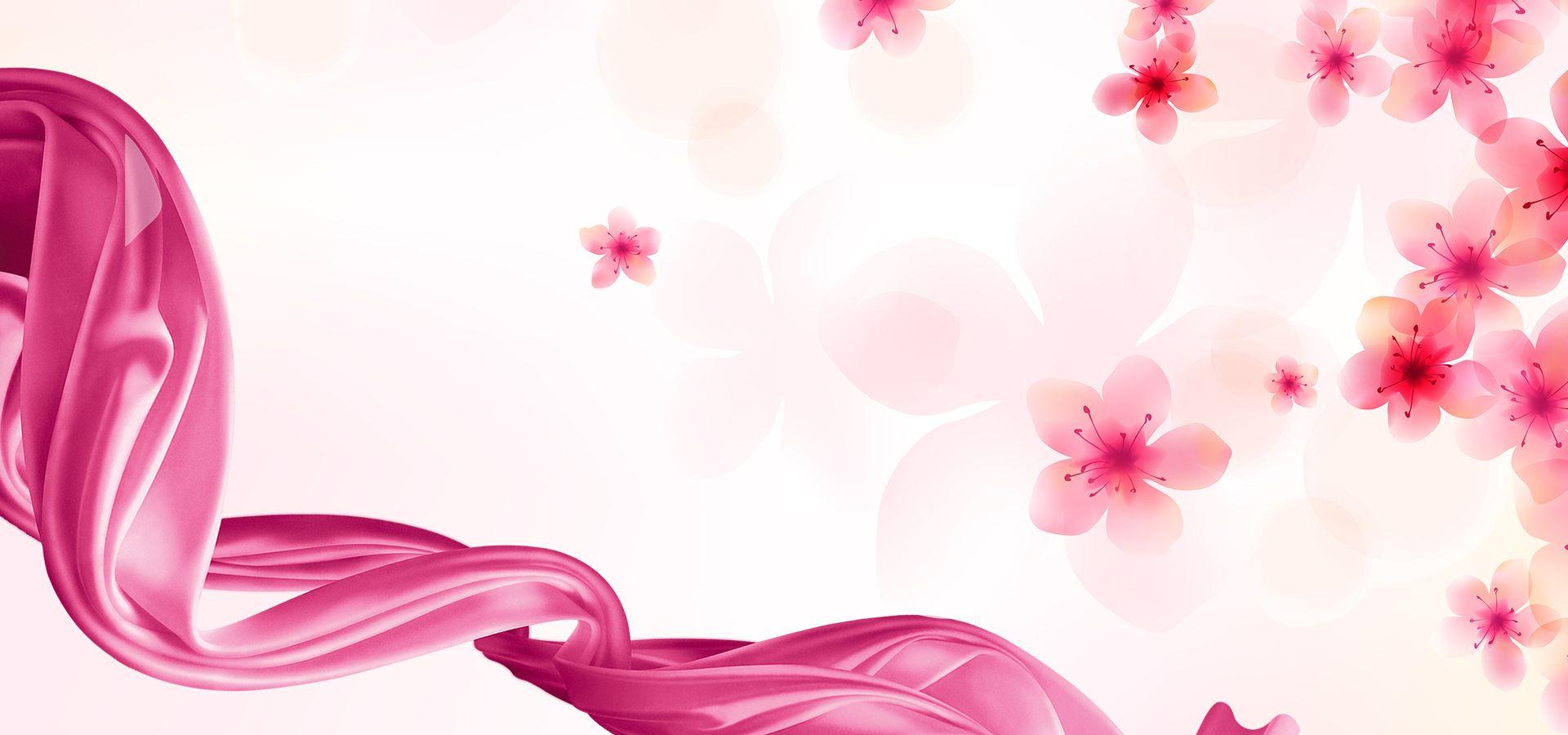 Romantic Pink Flowers Wedding Background Romantic Background