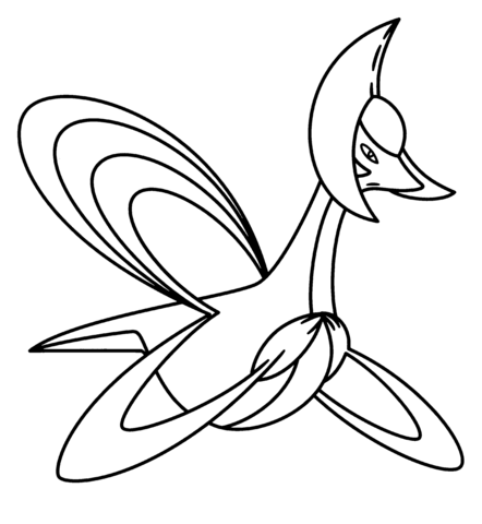 shaymin in sky form coloring page free printable coloring pages