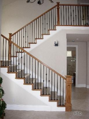 Best Banister With Metal And Wood With Images Banister 400 x 300