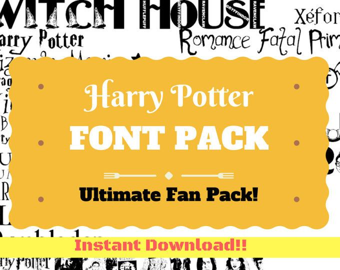 Download Harry Potter Magic Wizard Themed Computer .TTF Font Pack ...