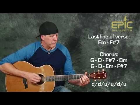 Learn Acoustic Song Eagles Hotel California Beginner Guitar Lesson