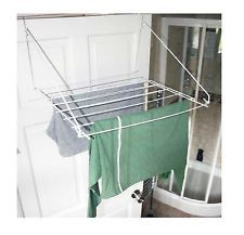Over Door Folding Airer Drying Rack Towel Rail Laundry Hanger Clothes Dryer