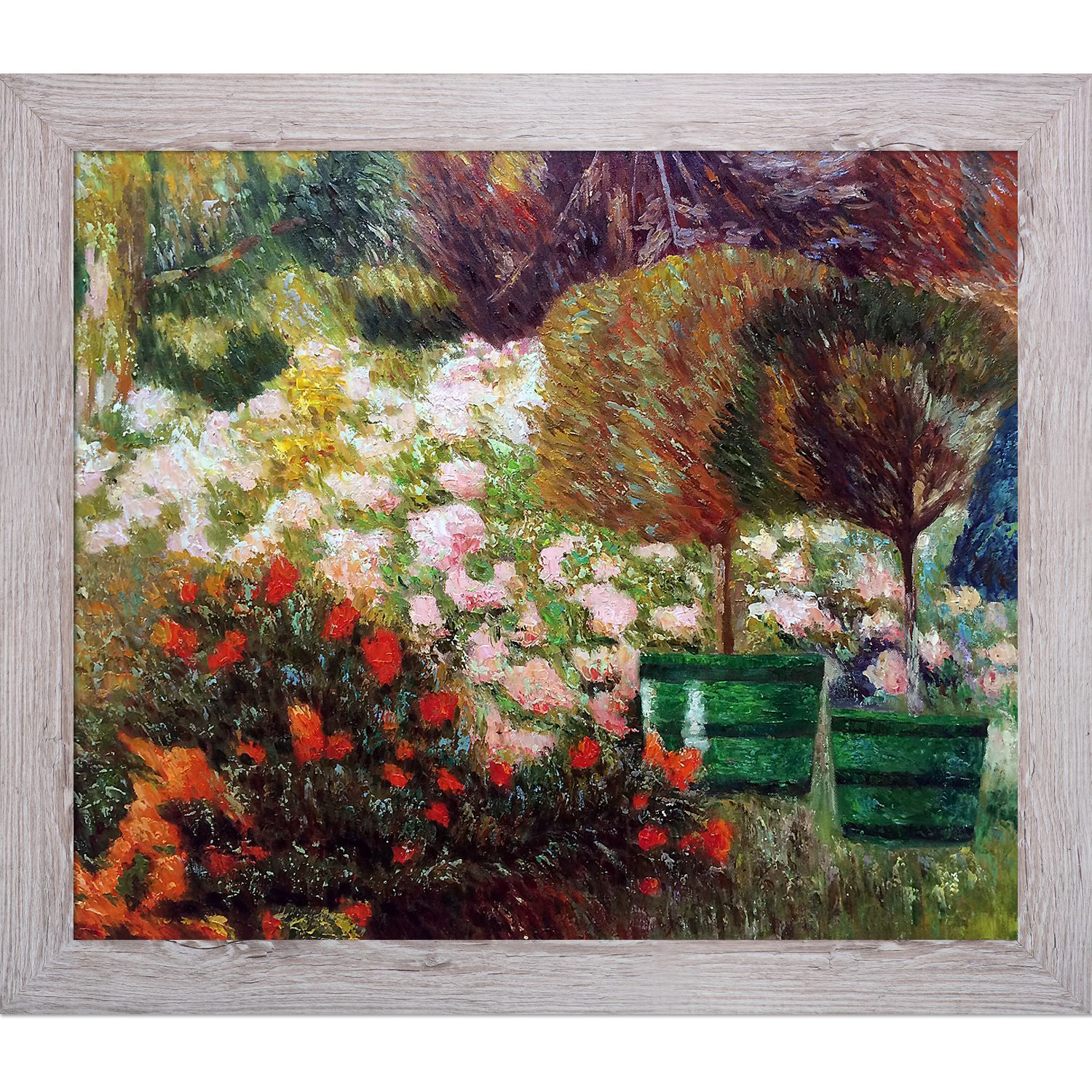 Emile Claus 'A Corner of My Garden 1901' Hand Painted Framed Art