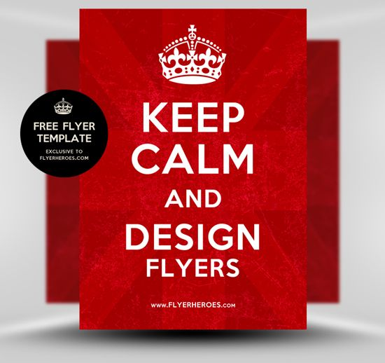 Free Keep Calm And Carry On Poster Flyer Template Flyerheroes
