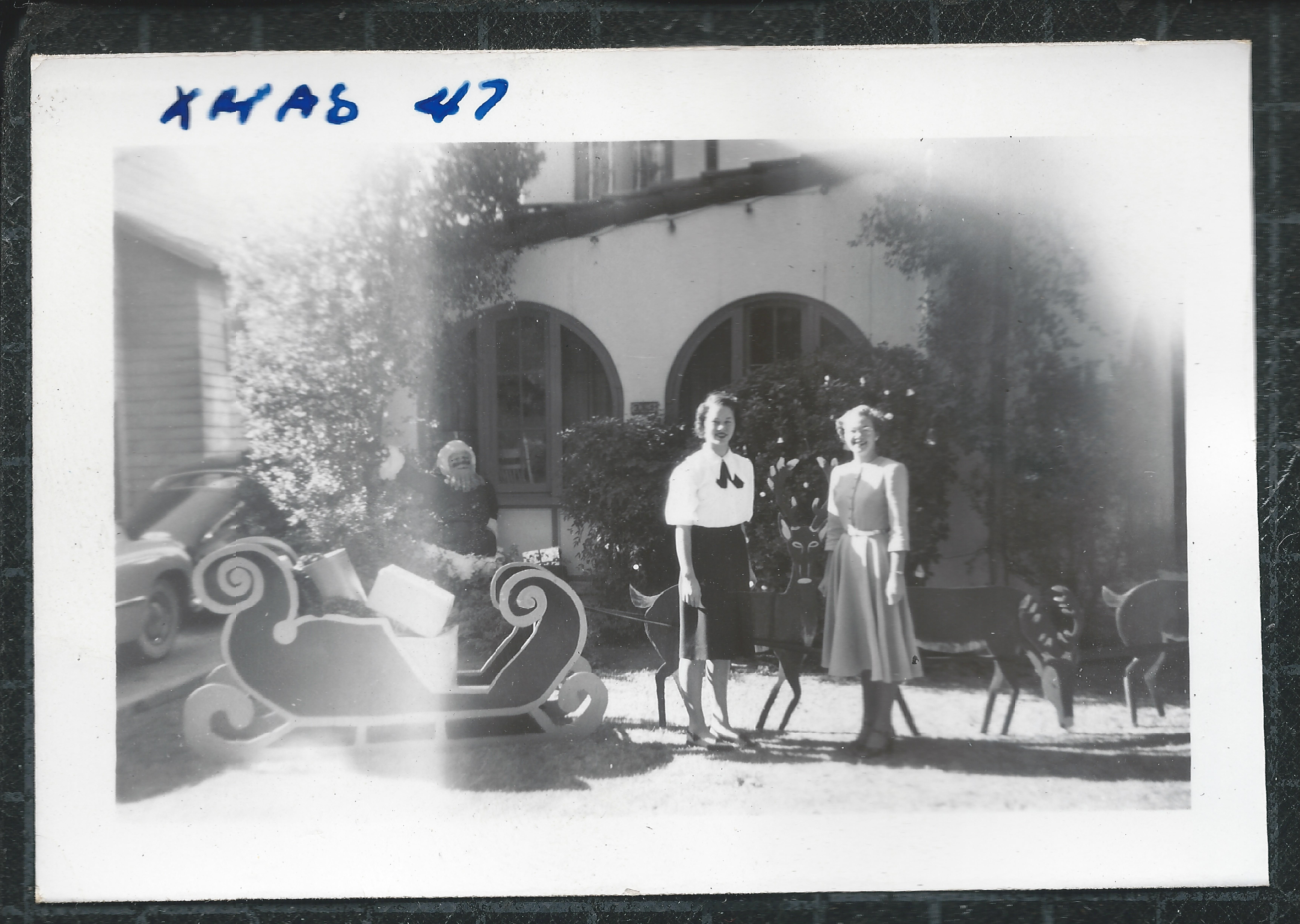 Home on Euclid Ave, Christmas 1947, across from the Upland Public ...