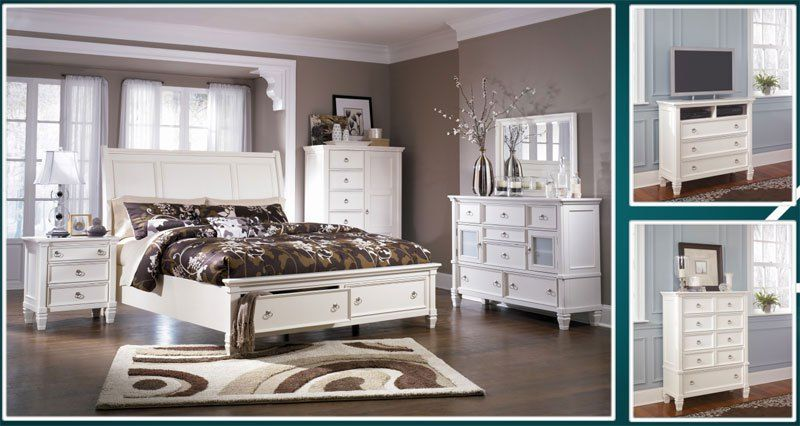 Greensburg And Prentice Bedroom Collections By Ashley Furniture Bedroom Set Sleigh Bedroom Set White Bedroom Set