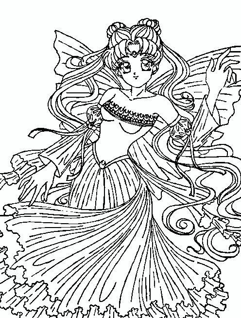 Princess Serenity Sailor Moon Coloring Pages Princess Coloring Pages Princess Coloring