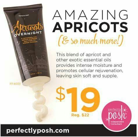 On sale this week at Perfectly Posh, the Apricots Overnight mask! An absolute treat for your face, apply at night and wash off in the morning, your face is ready to take on the day! Just $19 until Saturday. Www.perfectlyposh.com/13471 #perfectlyposh #picoftheday #potd #naturalbeauty #vegan #love #moms #wahm