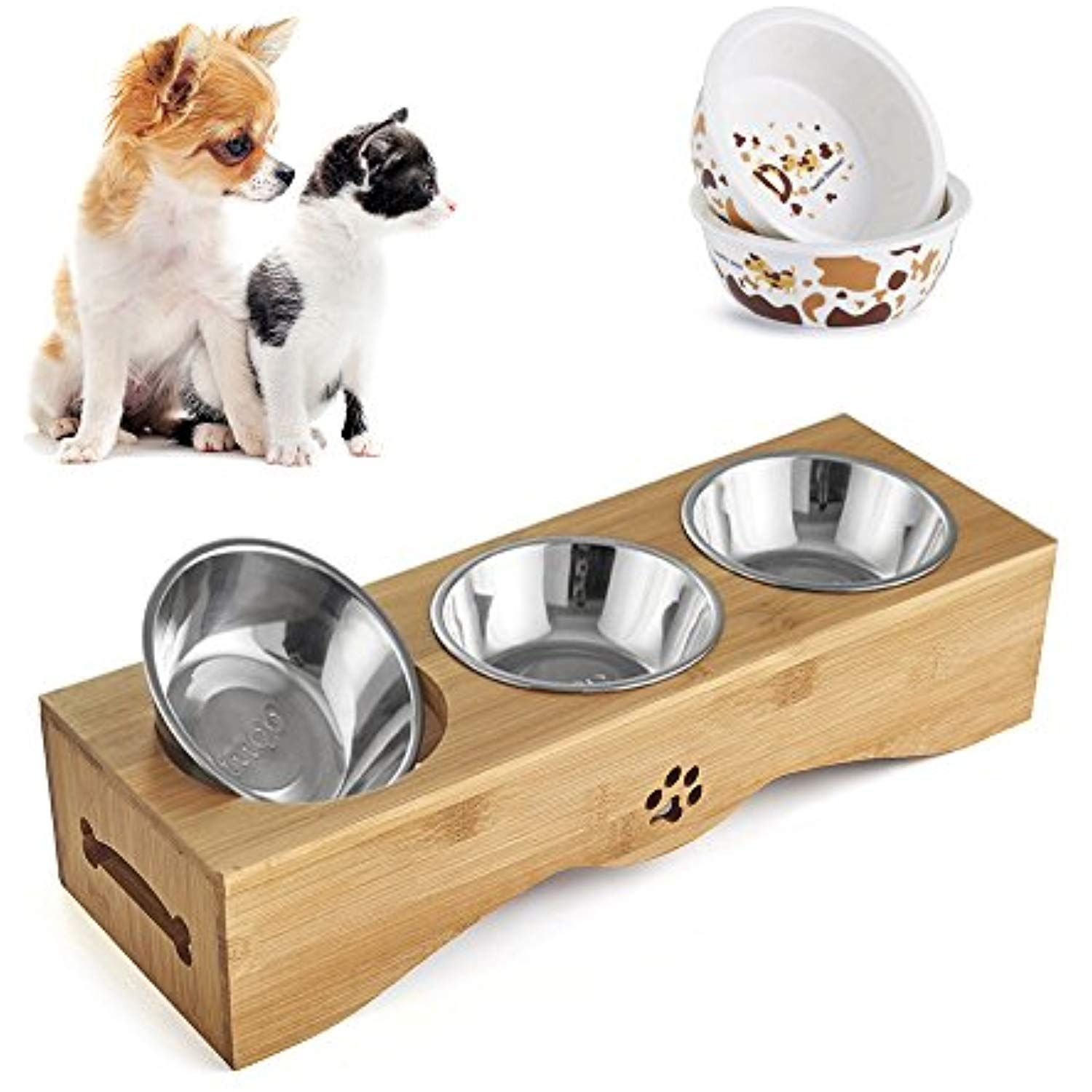Be Good Pet Feeding Bowls Stainless Steel Food Water Feeder With