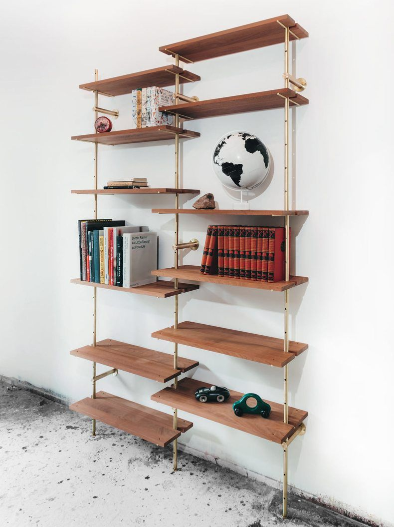 Best Modern Brass Rail Shelving With Images Brass Shelving 400 x 300
